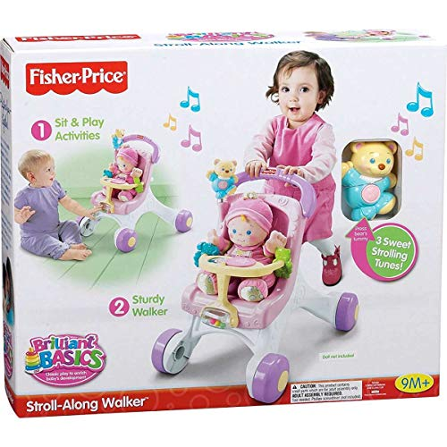 51H7G0rBwOL - Fisher-Price Brilliant Basics Stroll-Along Walker