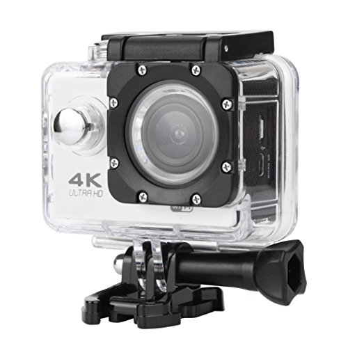 Creazy Waterproof 4K Wifi HD 1080P Ultra Sports Action Camera DVR Cam Camcorder (Silver)