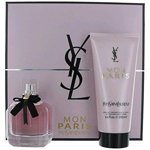 Mon Paris by Yves Saint Laurent for Women Set 3.0 oz EDP Spray + 6.6 oz Body Lotion by Yves Saint Laurent