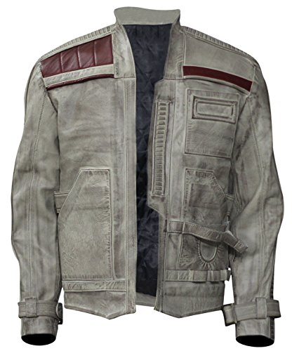 Star Wars Force Awakens Finn Pilot Leather Jacket