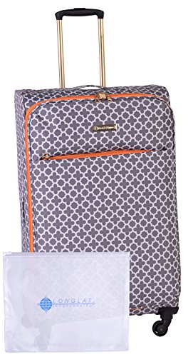 Jenni Chan Medley 2-Piece Set 28'' Upright Spinner +311 Bag, Grey by Jenni Chan