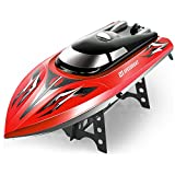 TiTa-Dong RC Boat Mini Remote Control Ship Water High Speed Electric Boat Toy for Pools Lake Sea Ponds size 43cm (Red)