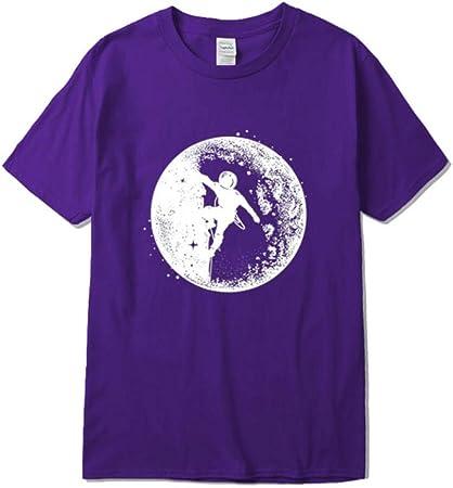 SGJKG Camiseta de Hombre Casual de algodón de Manga Corta ...