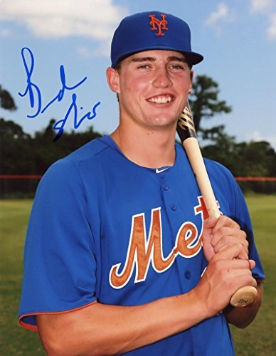 (Autographed Brandon Nimmo Photo - Posed 8x10 W coa - Autographed MLB Photos)