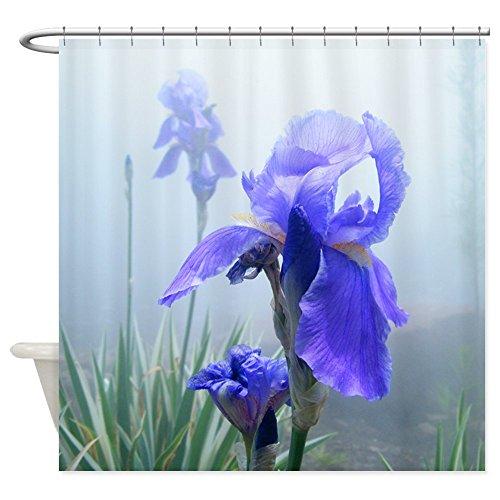 Mist Iris (CafePress - Iris Flower In The Mist - Decorative Fabric Shower Curtain (69
