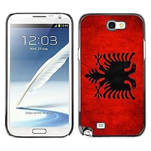 Shell-Star ( National Flag Series-Albania ) Fundas Cover Cubre Hard Case Cover para Samsung Galaxy Note 2 II / N7100