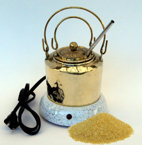 Hot Glue Pot Combo – Hand Made Brass Pot for Hide Glue, Electric Warmer and 1/2 Pound of Hide Glue