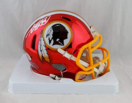 Amazon.com  Adrian Peterson Autographed Washington Redskins Chrome Mini  Helmet - Beckett Auth White  Sports Collectibles 8eb25cd97