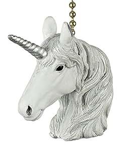 Mystical Unicorn Decorative Ceiling Fan Light Dimensional Pull Clementine Design