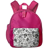Kid's Cute Mexican Motif Skulls Rose Pattern School Bags/Packbags For Boys And Girls