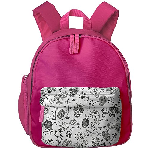 Kid's Cute Mexican Motif Skulls Rose Pattern School Bags/Packbags For Boys And Girls