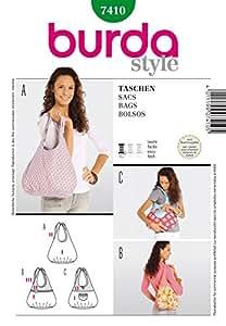 Burda 7410 - Patrón de costura para bolsos