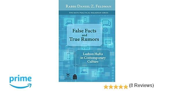 False facts and true rumors lashon hara in contemporary culture false facts and true rumors lashon hara in contemporary culture daniel z feldman 9781592644414 amazon books fandeluxe Choice Image