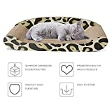 Delxo Cat Scratcher Lounge Durable Reversible Cat Scratcher Couch Recycled Harden Corrugated Cardboard Sturdy Eco-Friendly Design Maintain Healthy Cat Claws Protect Furniture from Harm Catnip Included