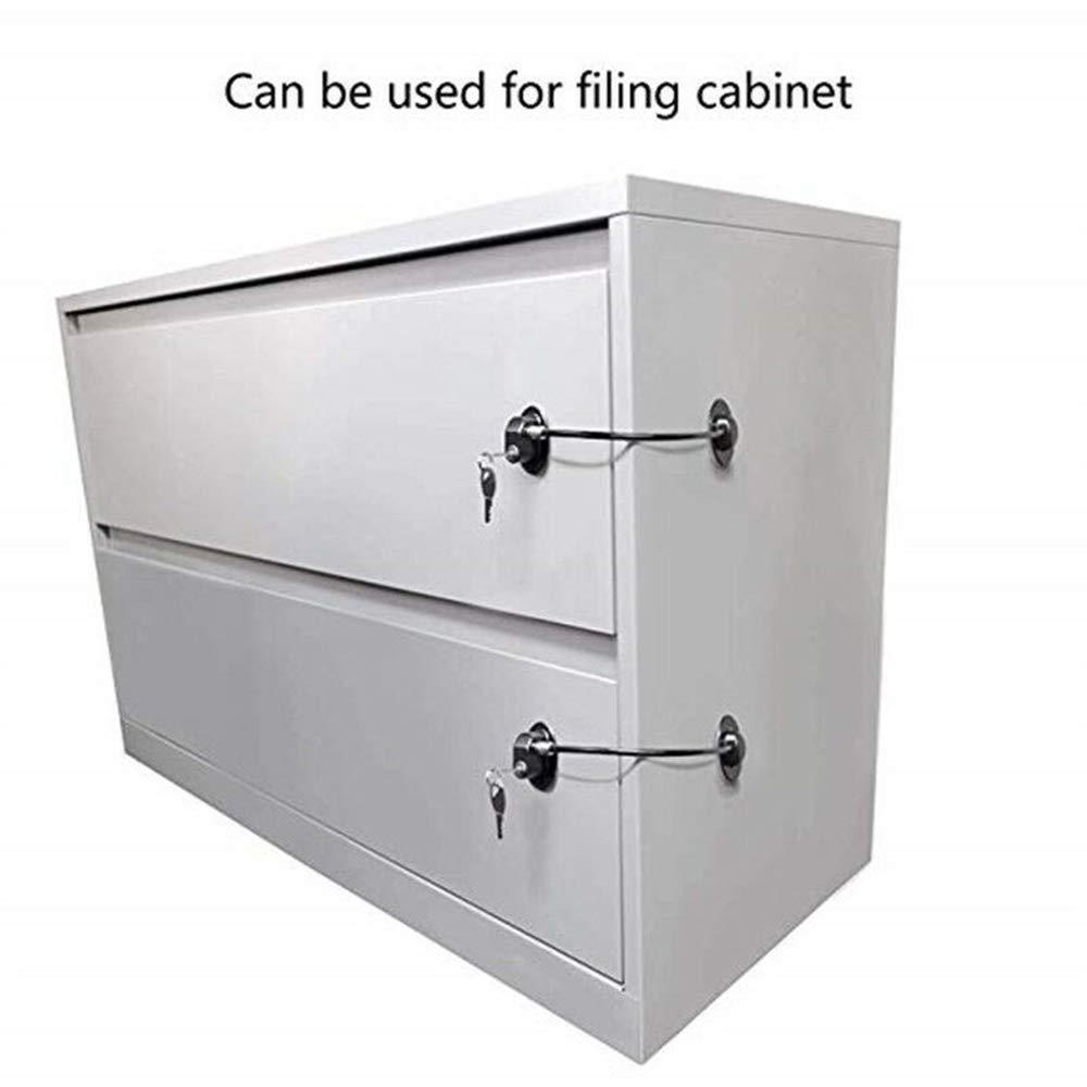 Cerradura para puerta de refrigerador con 2 llaves de acero inoxidable fuerte adhesivo de seguridad para ni/ños dispositivo de seguridad para la seguridad del beb/é