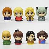 Set of 8 girls & Panzer Theatre Circle K Sunkus limited original puppet ed.