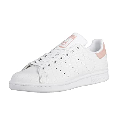 adidas Stan Smith J Basket Mode Femme Blanc 38 2/3: Amazon ...