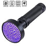 Glossday Blacklight Flashlight,100 LED UV Flashlights, Heavy Duty Ultraviolet Flashlight Professional Grade Black Light Detector for Dog Urine, Pet Stains or Bed Bugs,Hunting Scorpions