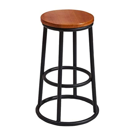 Superb Amazon Com Modern Industrial Wood And Metal Counter Stool Unemploymentrelief Wooden Chair Designs For Living Room Unemploymentrelieforg