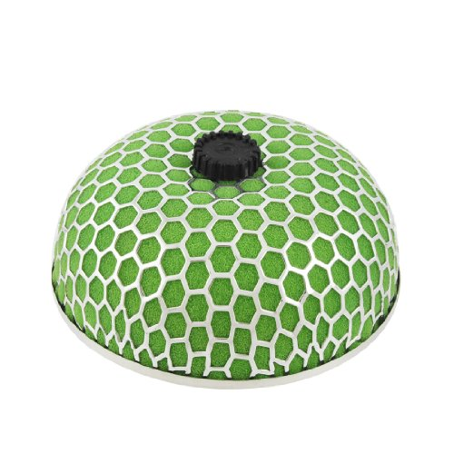 """uxcell 3"""" Universal Cold Air Intake Mushroom Shape Filter Green Silver Tone"""
