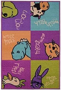 Andiamo 1100126 - Alfombra infantil, diseño de animales