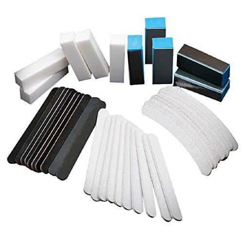 Lookatool 40PCS Nail Art Sanding Files Buffer Block Manicure Tools Pedicure UV Gel Set