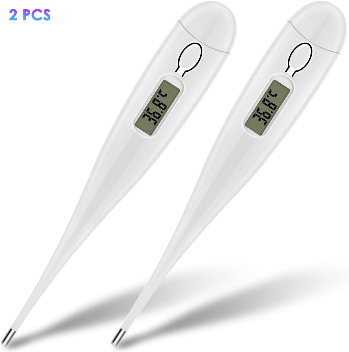 1 Pack Kids Flexible Tip Oral Armpit Temperature Meter with Fever Indicator for Newborns Children Adults Wallfire Digital Medical Thermometer Baby Body Thermometer Oral Armpit Temperature Meter
