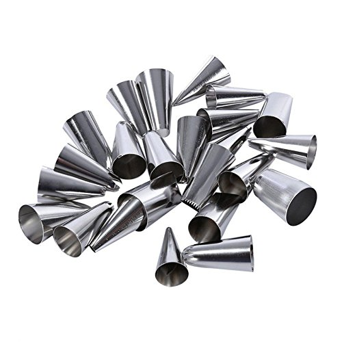 24 Pieces Confectionery Packing DIY Stainless Steel Icing Piping Nozzles Pastry Tips Fondant Cup Cake Baking