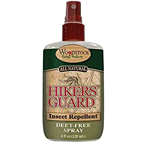 Woodstock Herbal Products - Hikers' Guard Insect Repellent Deet-Free Spray-4floz