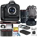 Canon EOS-1D X Mark II DSLR Camera w/Canon EF 16-35mm f/4L IS USM Lens Bundle