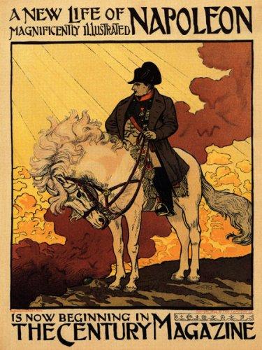 A New Lifeナポレオンホワイトの馬の世紀MagazineヴィンテージポスターREPRO B001TXATVM