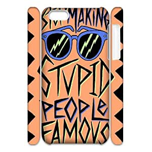 3D IPhone 5C Case Stupid People Famous, Typography Dustin, {White}