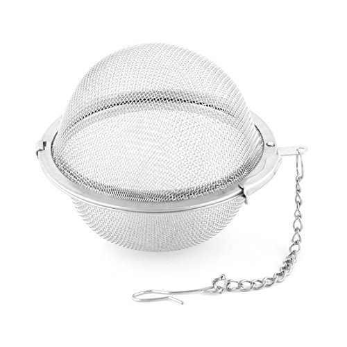 DealMux Stainless Steel Reusable Locking Chain Cooking Infuser Mesh Tea Ball Strainer Filter 6.8cm Dia
