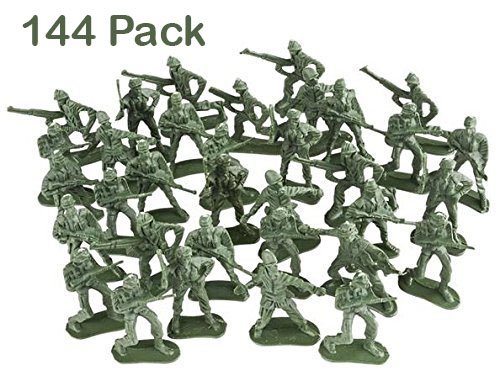 Army Toy Soldiers Action Figures - Assorted -144 Pack Deluxe - For Children, Boys, Girls, GI Joes, Parties, Gifts, Party Favors - (Army Soldier)