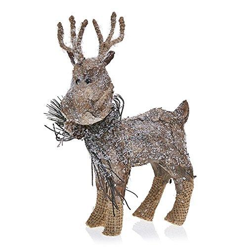 Deco Flair HOL5075 Holiday Reindeer Rustic Woodland Creature
