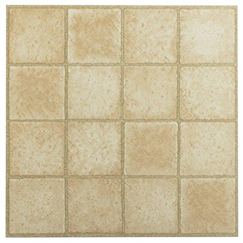 Square Laminate Flooring (Achim Imports FTVGM30845 Tivoli 16 Square Sandstone 12x12 Self Adhesive Vinyl Floor Tile-45 Tiles/45 sq. ft. , Piece)