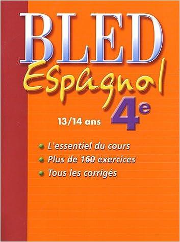 Livres gratuits Espagnol 4e : 13/14 ans pdf, epub