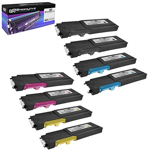 Speedy Inks Compatible Toner Cartridge Replacement for Dell C2660 C2660DN C2665dnf High-Yield (2 Black 2 Cyan 2 Magenta 2 Yellow 8-Pack)