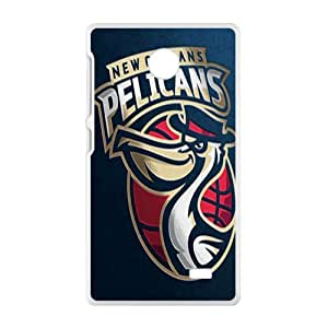 New Orleans Pelicans NBA White Phone Case for Nokia Lumia X Case