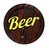 Beer Keg with Tap 12' Round Colorfull Aluminum Sign for Wall, Bar, Gameroom