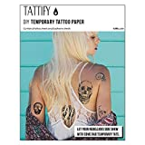 Tattify DIY Temporary Tattoo Paper 1 Sheet Pack For Laser Printers, Printable Long Lasting Custom Tattoos At Home, Sticker Transfer Sheets With Clear Instructions, Waterproof And Sweat Resistant