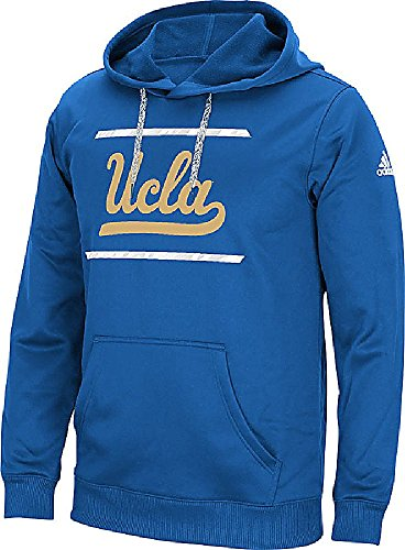 adidas UCLA Bruins Mens Sport Blue Sidelines Energize Synthetic Hoodie by (XX-Large)