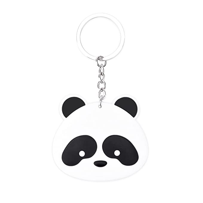 wsstore Panda llavero silicona llavero colgantes: Amazon.es ...