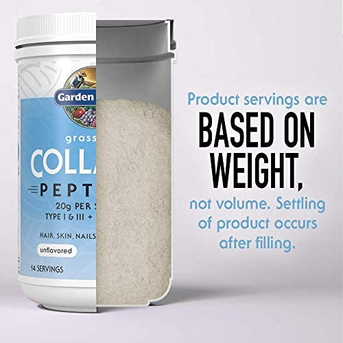 Garden of Life Grass Fed Collagen Peptides Powder - Unflavored, 14 Servings - Collagen Powder for Women Men Hair Skin Nails Joints, Collagen Protein Powder, Collagen Supplements, Hydrolyzed Keto 10