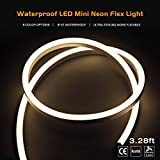 Signcomplex Led Strip Lights, Tape Lights, Neon Lights Waterproof Super Bright Led Rope Lights Clean Neon Lights for Outdoor Indoor Hotel Garden Floor Bar Hall Decor 3.28ft (Natural White)