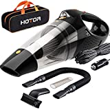 HOTOR Car Vacuum, Corded Car Vacuum Cleaner High Power for Quick Car Cleaning, DC 12V Portable Auto Vacuum Cleaner for Car Use Only - Orange & Black