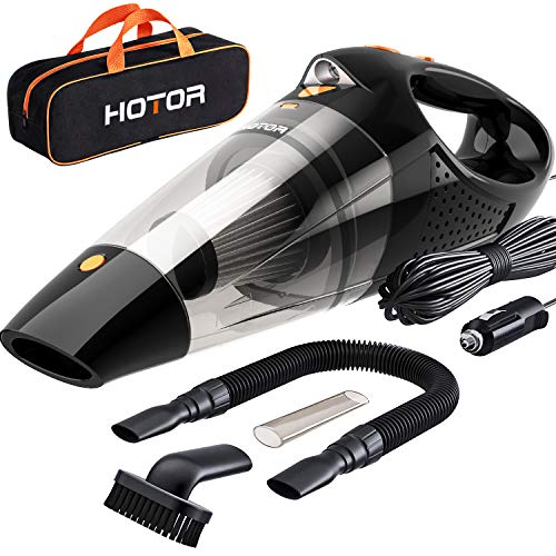 HOTOR Car Vacuum, Corded Car Vacuum Cleaner High Power for Quick Car Cleaning, DC 12V Portable Auto Vacuum Cleaner for Car Use Only - Orange