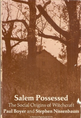 salem possessed essay Salem possessed essaysin the past, the word salem has always been somewhat synonymous with the infamous witch trials rather than overlook the ordinary people living in the towns in which paul boyer and stephen nissenbaum write, they instead take the instance of the witch trials of 1692 and springbo.