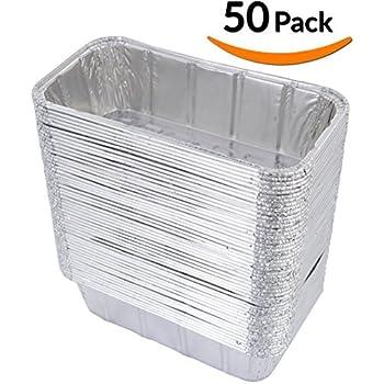 Amazon Com 50 Pack 3 Lb Aluminum Foil Loaf Pan Disposable