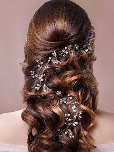 Unicra Wedding Headpiece Decorative Bridal Headband Hair Vine Hair Piece Accessories For Brides
